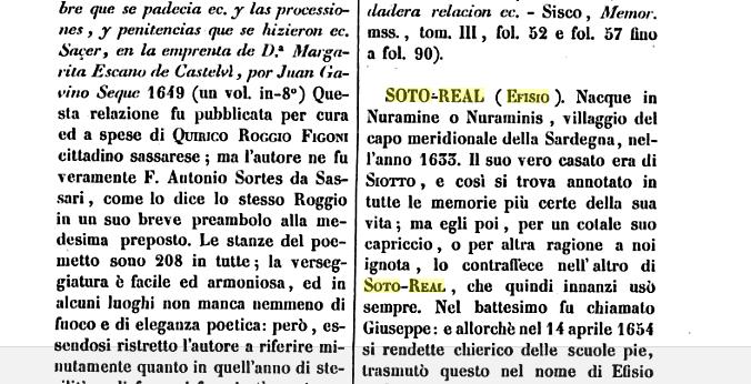 Un intellettuale europeo nella Nuraminis del Seicento: Efisio Soto Real