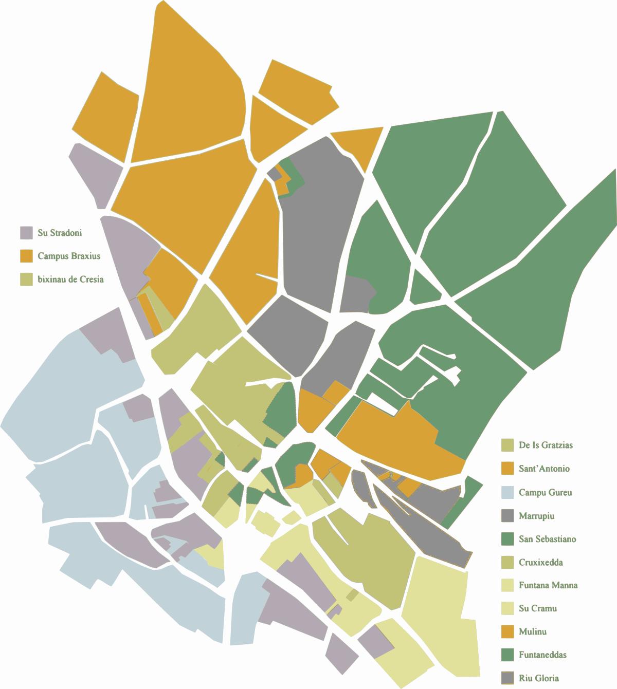 I quartieri storici nella Nuraminis dell'800