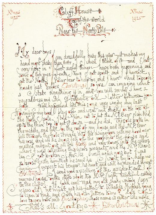 Le risposte di Babbo Natale scritte da Tolkien ai suoi figli