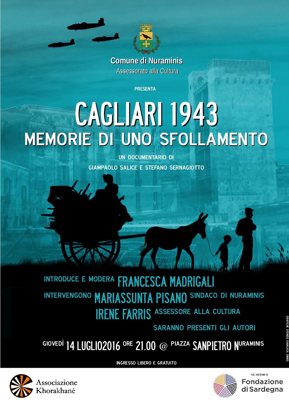 """""""Cagliari 1943. Memorie di uno sfollamento"""". Proiezione a Nuraminis"""