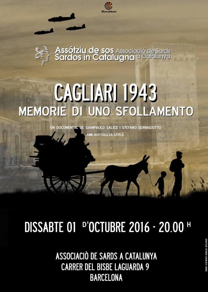Il documentario sullo sfollamento di Cagliari nel 1943 verrà presentato a Barcellona