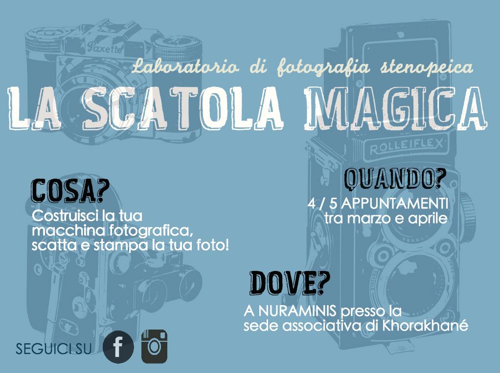 La Scatola Magica, un laboratorio che ti insegna a costruire una macchina fotografica artigianale